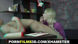 Porno films in 3d - de leraar neukt een student
