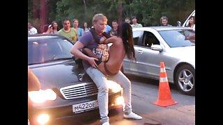 Gek russische stripper