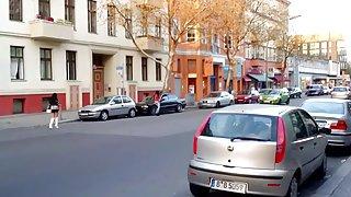 Mooi meisje hooker in berlijn op straat