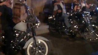 Biker bar orgie