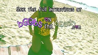 Topless strand interview compilatie met echte sletten in het buitenland