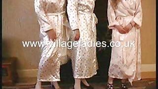 Vintage ondergoed van het dorp dames