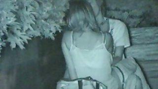 Openbaar park seks betrapt op verborgen cam