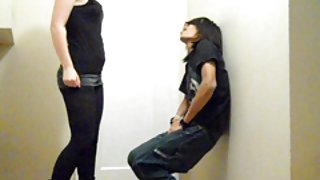 Ballbusting - tiener brutale snelle kneeing!!