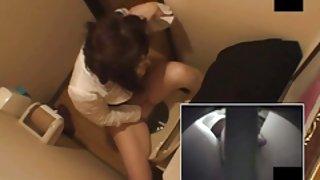 Onfatsoenlijke vrouwen toiletten onanism