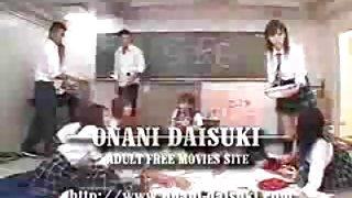 Japanse school meisjes groep sex