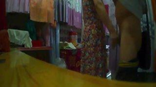 Het gordijn winkel tante knippert (2)