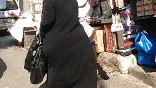 Candid arabische ass - big butt - straat voyeur - volwassen buit