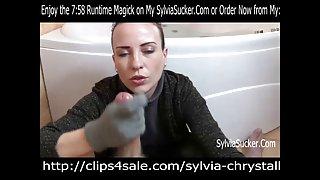 Gebreide handschoenen pov handjob en klaarkomen door sylvia chrystall hd